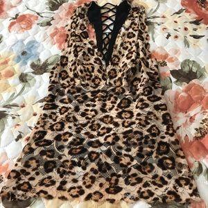 Guess leopard top size xxs